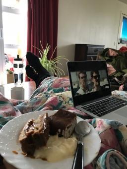Bananenbrot, Panna Cotta und Kuchen