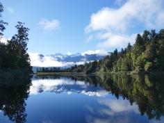 Reflektion im Lake Matheson