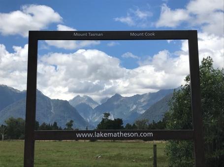 Blick auf Mt Tasman und Mt Cook
