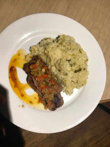 Steak mit Risotto