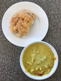 Scone mit Curry
