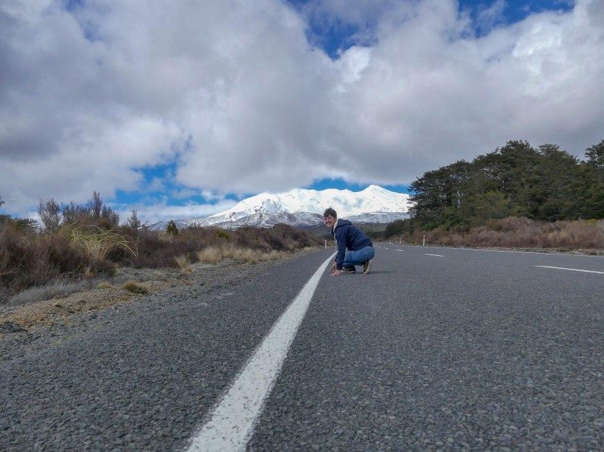 Franzi und der Mount Ruapehu